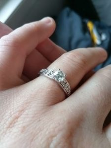 Brian and Danielle's Custom Designed Engagement Ring Showcase View