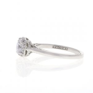 Halo Engagement Ring with Tacori Mounting