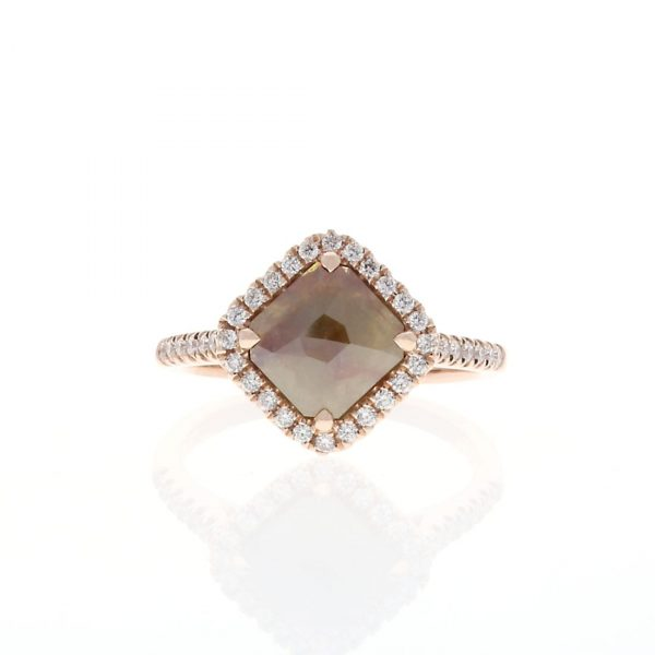 Diamond Shaped Brown Diamond Engagement Ring