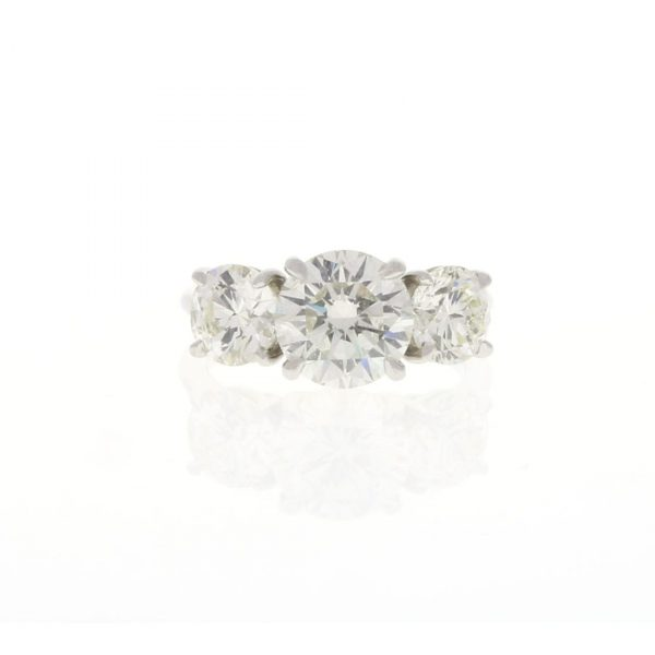 Three Stone Platinum Engagement Ring