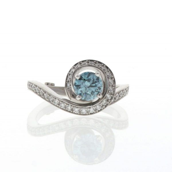 blue diamond engagement ring Bewitched by Mark Schneider