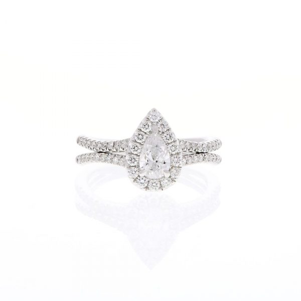 Pear Shape Split Shank Engagement Ring