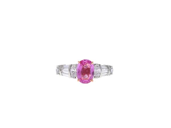 Pink Sapphire Engagement Ring Showcase View