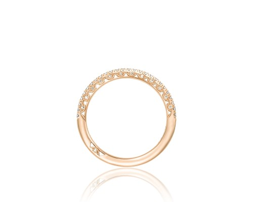 Petite Crescent Wedding Band by Tacori Showcase Side View
