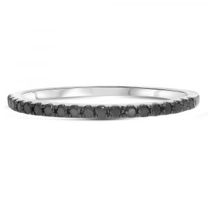 Black Micro-pave Diamond Band