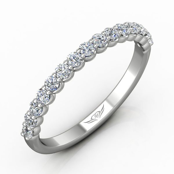 Shared Prong Diamond Band by Martin Flyer