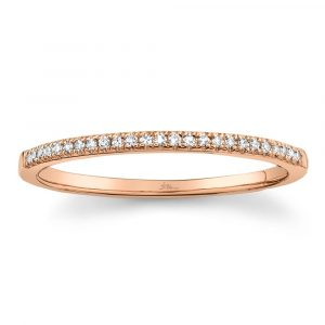 Rose Gold Diamond Band by Shy Creation