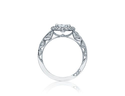 Blooming Beauties Engagement Ring by Tacori Showcase Side View