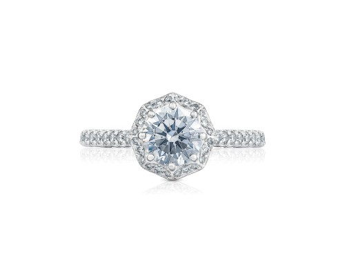 Petite Crescent Engagement Ring by Tacori