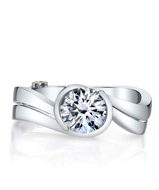 Crush Engagement Ring Mounting by Mark Schneider Showcase Band View