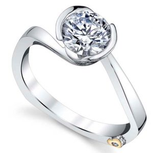Crush Engagement Ring Mounting by Mark Schneider Showcase View