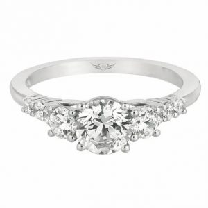 3-Stone Engagement Ring by Martin Flyer Showcase View