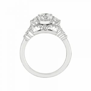 3-Stone Engagement Ring by Martin Flyer Showcase Side View