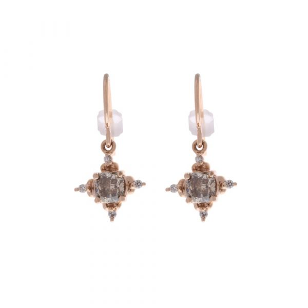 Brown Diamond Dangle Earrings
