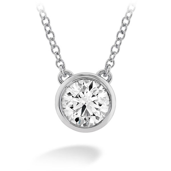 Classic Bezel Necklace by Hearts On Fire Showcase View