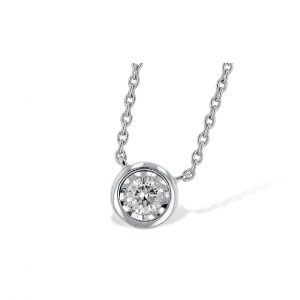 bezel set diamond solitaire pendant
