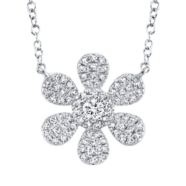 Diamond Flower Necklace by Shy Creation