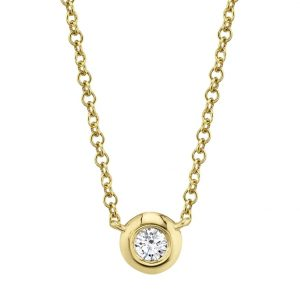 Diamond Bezel Necklace by Shy Creation