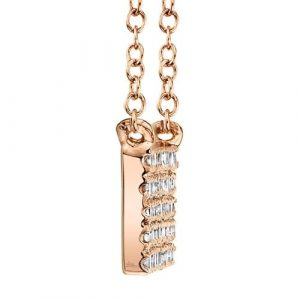 Diamond Pave Bar Necklace by Shy Creation