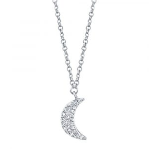 Diamond Crescent Moon Necklace by Shy Creation