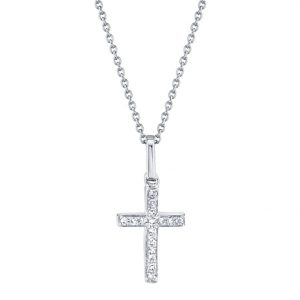 Diamond Cross Necklace by Shy Creation