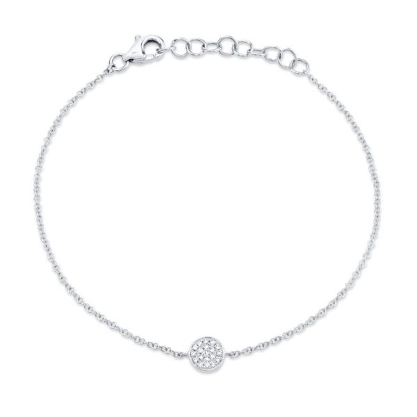 Diamond Pave Circle Bracelet by Shy Creation