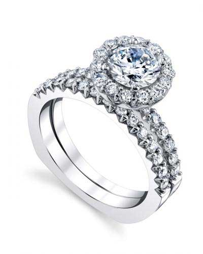 Sentiment Engagement Ring Mounting by Mark Schneider with Band View