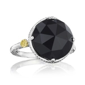 tacori bold simple gem ring