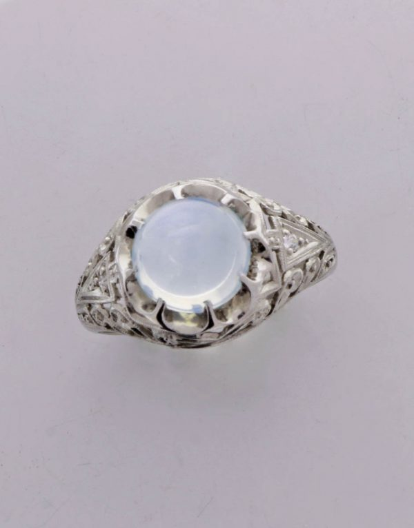 edwardian platinum moonstone ring