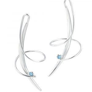 Swirl Earrings by Frederic Duclos Showcase View