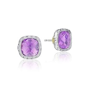 Cushion Amethyst Earrings by Tacori