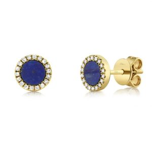Lapis and Diamond Earrings by Shy Creation