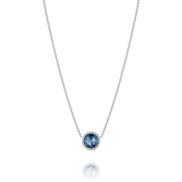 Floating Bezel Necklace Blue Topaz by Tacori Showcase View