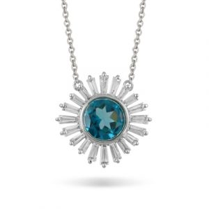 London Blue Topaz Necklace by little bird Showcase View