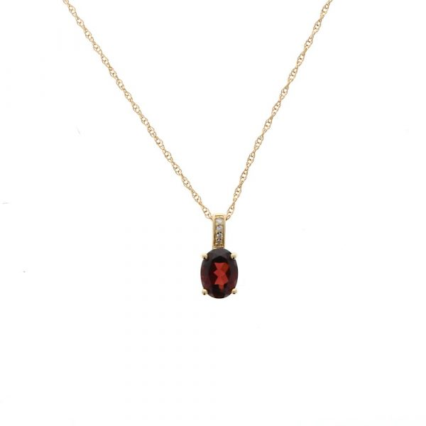 Oval Colored Stone Pendant