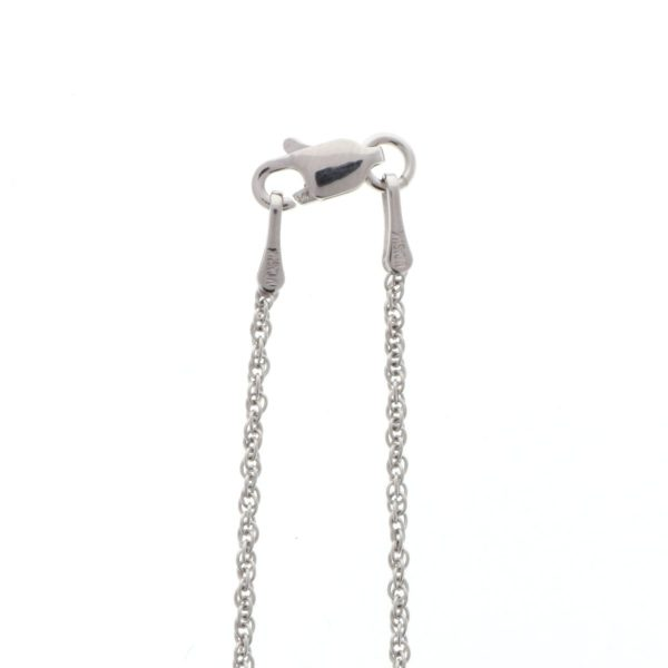 lobster clasp on white gold chain