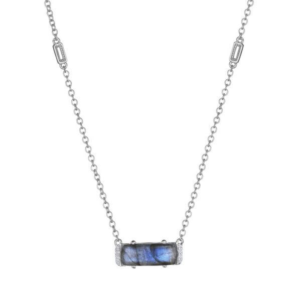 Emerald Cut Labradorite Necklace by Tacori