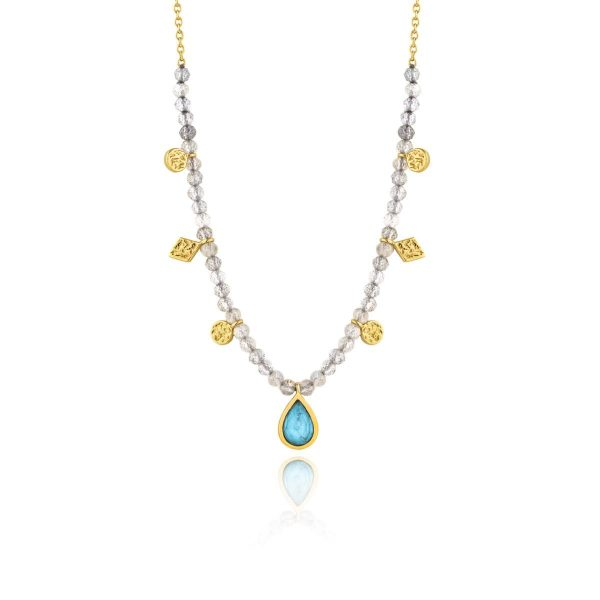 Turquoise Labradorite Necklace by Ania Haie