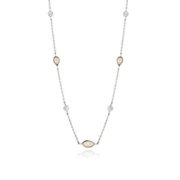 Opal Color Station Necklace by Ania Haie