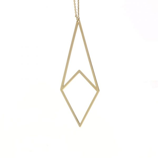 yellow gold geometric necklace