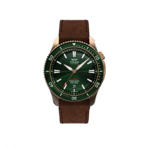 Bronze Torsk Diver with Emerald Green Dial by Tsao Baltimore
