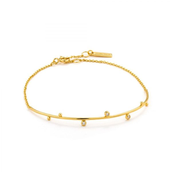 Shimmer Solid Bar Stud Bracelet by Ania Haie