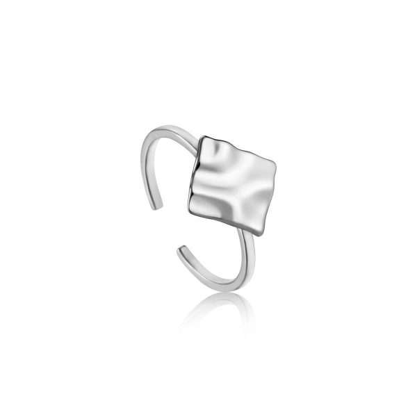 Crush Square Adjustable Ring by Ania Haie