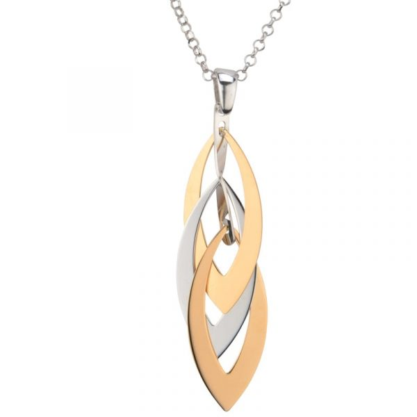 Layered Marquis Necklace by Frederic Duclos Showcase View
