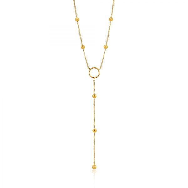 Modern Circle Y Necklace by Ania Haie