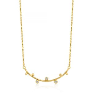 Shimmer Solid Bar Necklace by Ania Haie