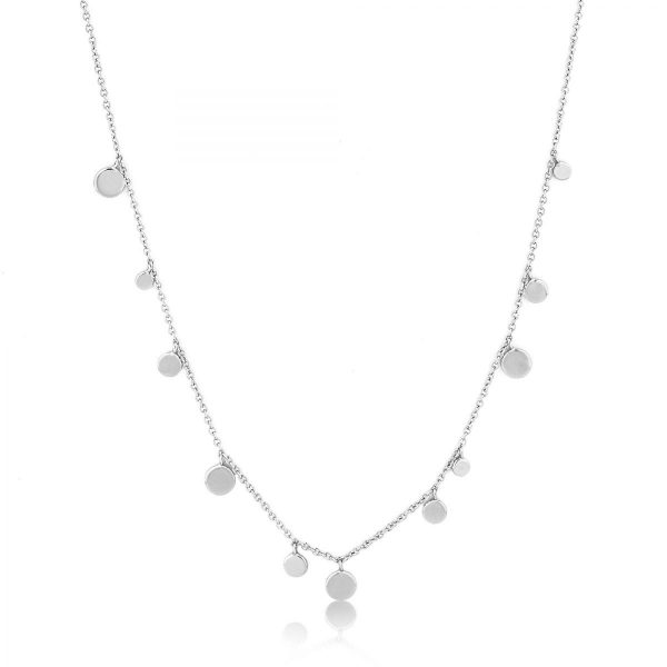 Geometry Mixed Discs Necklace by Ania Haie