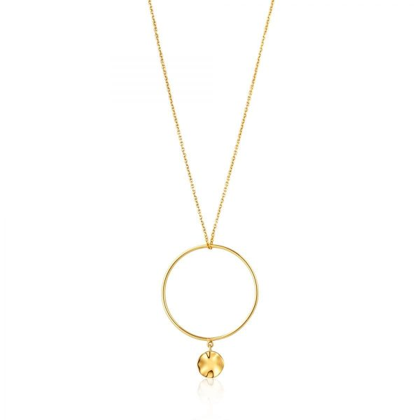 Ripple Circle Necklace by Ania Haie