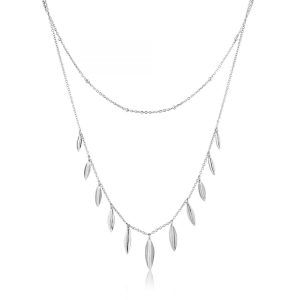 Leaf Double Necklace by Ania Haie