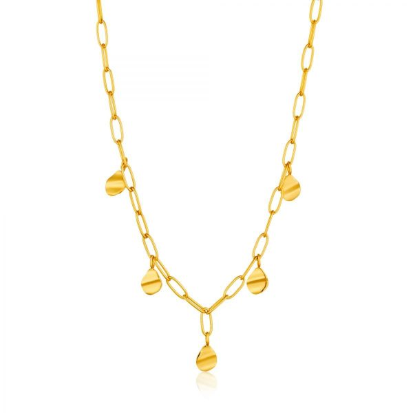 Crush Drop Discs Necklace by Ania Haie